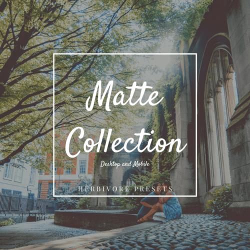 matte lightroom presets mobile and desktop featured